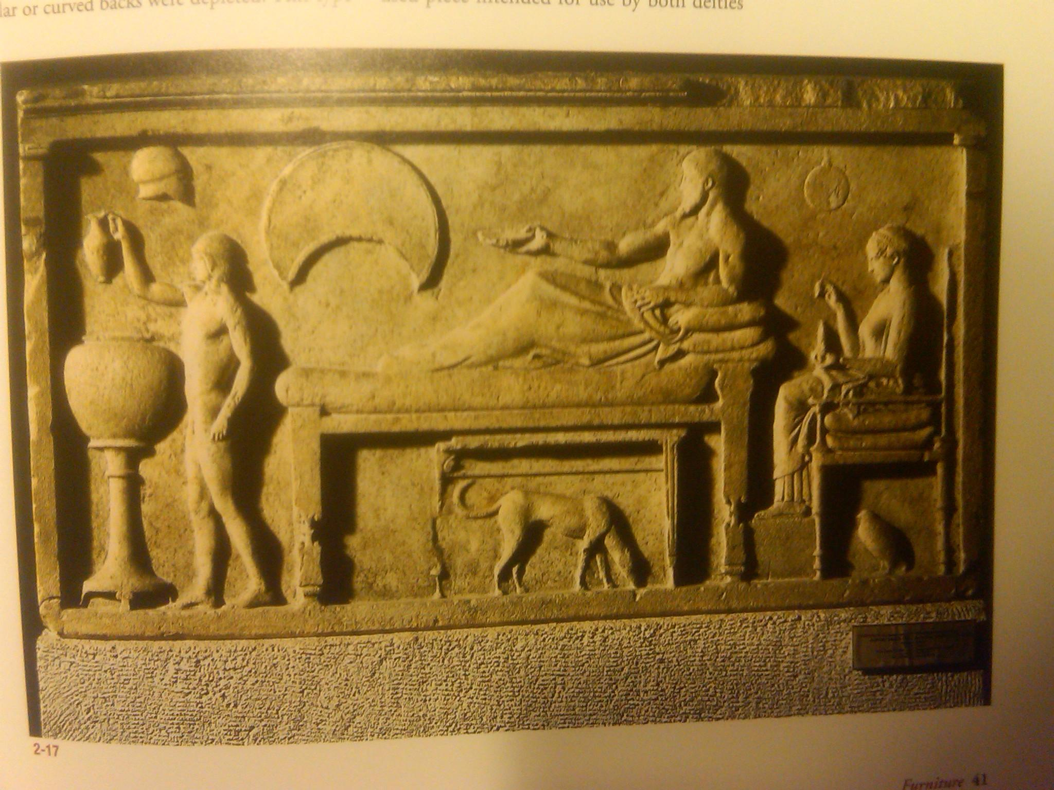 Ancient greece furniture -  Depiction Of A Kline On A Relief