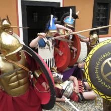 Hoplites in close combat with Hypaspists