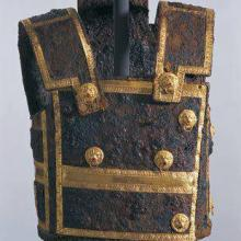 The armour from the Vergina tomb.