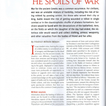 "Article ""The Spoils of War"""