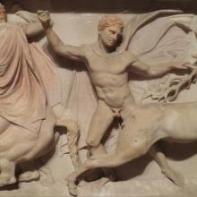 Alexander Sarkophagus. Source: https://commons.wikimedia.org/wiki/File:Alexander_Sarcophagus,_long_side_B,_hunting_scene,_Istanbul_Archaeology_Museum_(14042900900).jpg